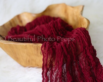 Burgundy Red Cheesecloth Baby Wrap Cheese Cloth Newborn Photography