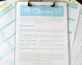 CLEAN - The Classic Cleaning Kit   - Aqua and Lime - 6 documents - INSTANT DOWNLOAD