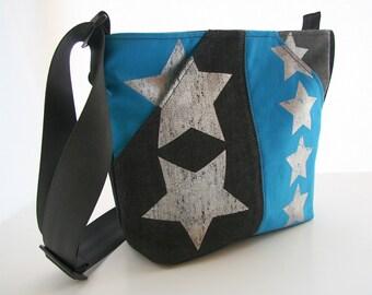 CUSTOM Made to order Star Scoop Pocket shoulder bag with adjustable strap