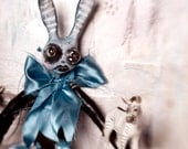 Cute Bunny Doll Photograph 13x19 8x11 fine art print, childrens room home decor.