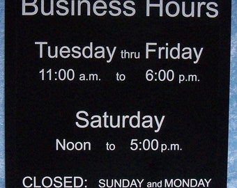"""Custom cut and engraved UV protected plastic sign, 15"""" by 10"""""""
