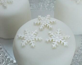 edible sugar snowflakes small set of 20