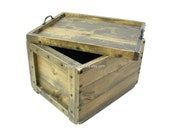 Wood Crate with Reversible Lid-Tray, Wooden Box with Lid, Wedding Card Box, Hope Chest, Keepsake Box, Memory Box, Custom Engraving Available