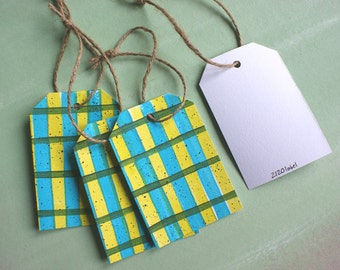 Painted paper tags -set of 4