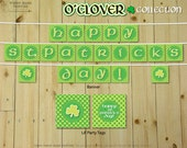 O'CLOVER Collection : DIY Printable St. Patrick's Day Party Decorations // Irish Decoration // Shamrock Sign - Instant Download