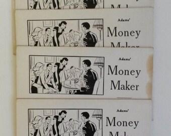 C. 1950s Adams' Money Maker Gag Card - Vintage Game Advertisement  - Retail Sign