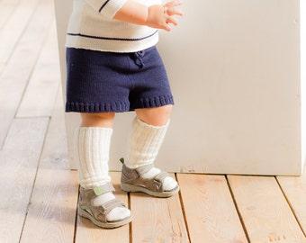 KNIT BABY SOCKS off white socks Baby shower gift Baptism accessory Legwear