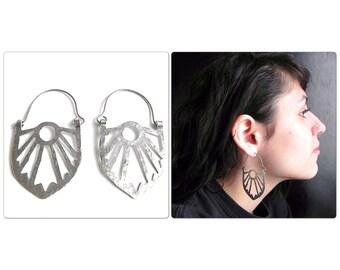 Art Deco hoop earrings, Art Deco statement earrings