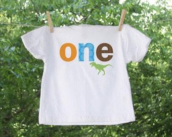 First Birthday Dinosaur Shirt can be customized - TW