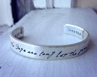 Heirloom Thick Sterling Silver Classic Cuff - Personalized - 14 font choices