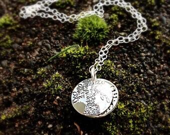 Tree of Love sterling silver swing locket necklace