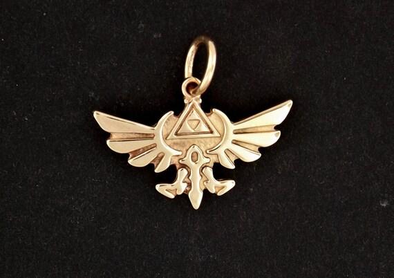 Legend of Zelda Pendant in Antique Bronze