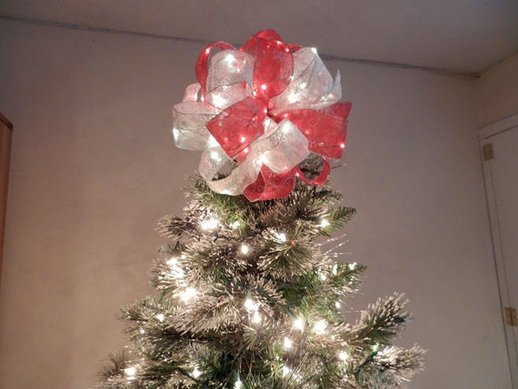 Bow Christmas Tree Toppers