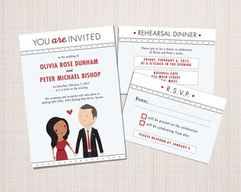 Custom Portrait Wedding Invitation Suite - Keep It Classy design