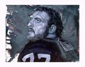 Los Angeles Raiders Lyle Alzado Art Print