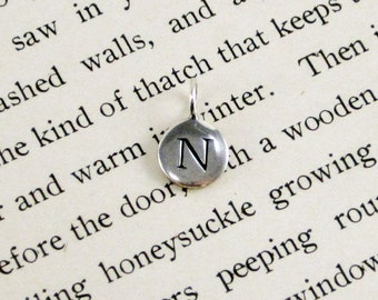 "Sterling Silver Letter  ""N"" Charm"