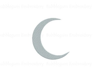 Crescent Moon Embroidery Design Instant Download