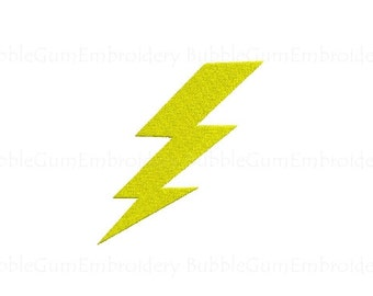 Lightning Bolt Embroidery Design Instant Download