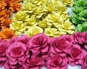 Paper Roses  Custom Order for 2 inch paper roses in your choice of color or colors 50 Qty
