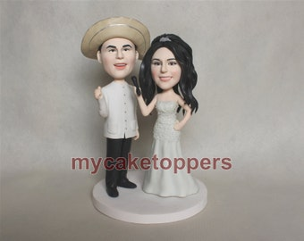 Unique wedding cake toppers, bride and groom custom cake topper, micorphone, interview cake topper,,micorphone