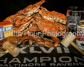 Baltimore Ravens Win Superbowl XLVII Steamed Crab Photography