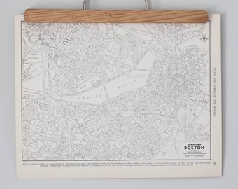 Boston 1930s Map | Antique Massachusetts City Map