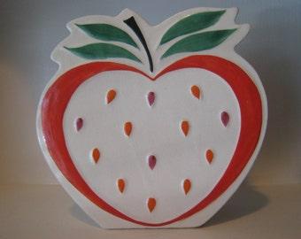 Apple Ceramic Wall Pocket Planter