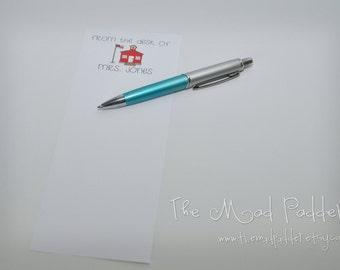School Days Medium Notepads - Three Custom Made - Third of a Sheet Size