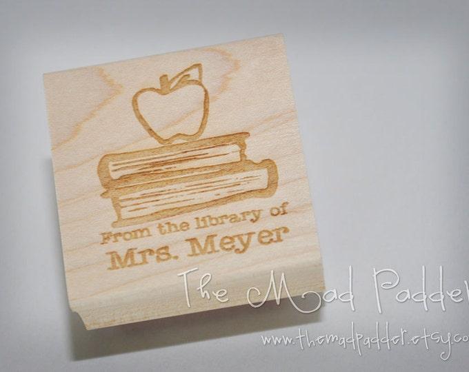 School Days Wooden Stamp - Custom Made