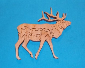 Elk Scroll Saw Wooden Puzzle
