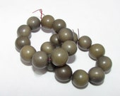 20 Gray Green Rounds, Tagua Nut Beads, 9mm Round Beads, Organic Beads, Vegetable Ivory Beads, Natural Beads, EcoBeads