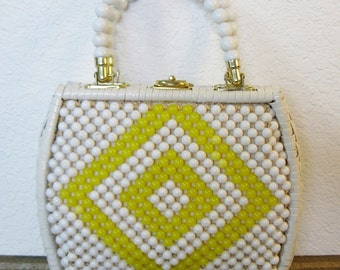 Bradlees Made In Hong Kong Beaded Purse