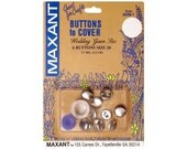 Buttons to Cover Maxant Size 20 Kit Half Ball Mold Pusher 1/2""