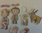 Hannibal sticker set