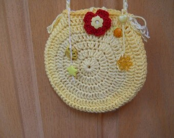 Girl's  Purse in Yellow with Embellishments