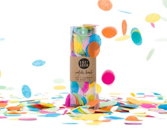 "Multicolor Confetti / 1"" Party Confetti Bomb"
