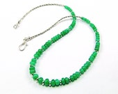 Reserved - Australian Chrysoprase Rondelle Necklace - N751