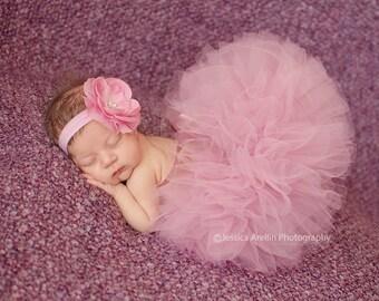 Mauve Baby Tutu, Boutique Newborn Tutu, Mauve Tutu Set, Infant Tutu, Baby Girls Tutu, Toddler Tutu, Baby Headband, Newborn Photo Prop
