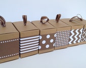 Brown Paper Ribbon in Pattern of Your Choice