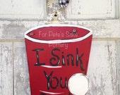 Solo cup door hanger