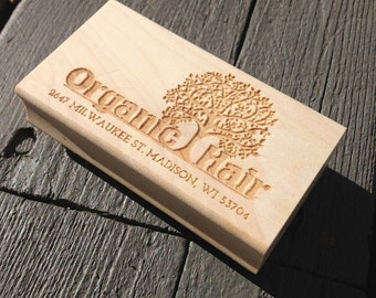 Custom Logo Personalized Return Address Rubber Stamp with or without Wooden Handle