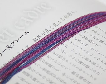 two tone color chain with purple and blue