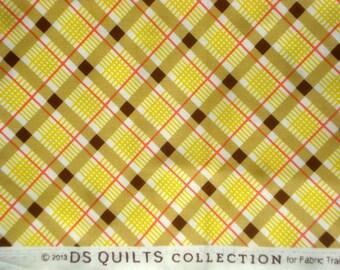 Croquet Bias Plaid yellow DS Quilts Denyse Schmidt fabric  FQ
