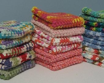 Hand Crocheted Cotton Washcloth / Dishcloth