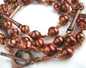 Chocolate Freshwater Pearl Wire Wrapped Necklace Wire Wrap Chocolate Pearl Necklace (40 inches)