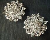 Vintage style wedding rhinestone ear plugs or stud earrings / 4-16mm / rhinestone wedding studs wedding plugs / rhinestone gauges