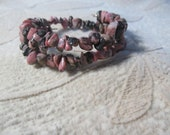 Rhodonite Bracelet, Healing Stone Bracelet, Pink  Love Bracelet, Gemstone Synergy, Helping Stones, Worry Stones