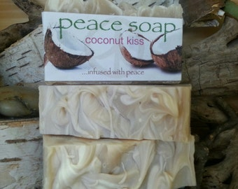 coconut kiss peace soap