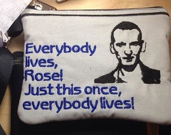 9th Doctor Who Wallet Wristlet Favorite Quote