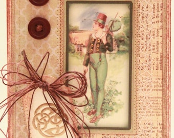 St. Patrick's Day Card - The Long Road - Vintage St Patrick's Day Card - Victorian St Patrick's Day Card - Irish Card - Celtic Knot
